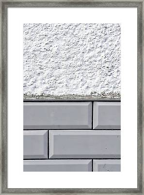 Wall Tiles Background Framed Print by Tom Gowanlock