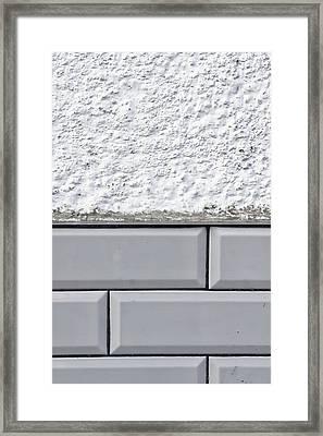 Wall Tiles Background Framed Print