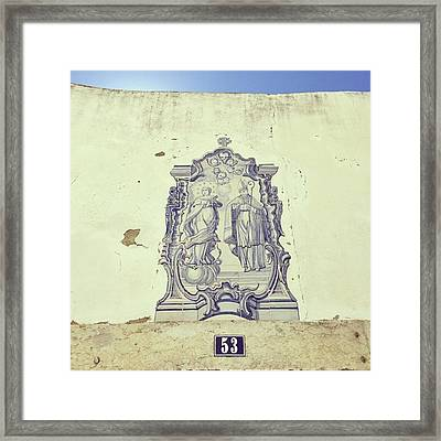 #wall #tiles #lisbontiles #decorative Framed Print