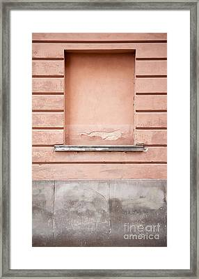 wall up blank false window in Old Town Warsaw Framed Print by Arletta Cwalina