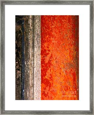 Wall With Red By Michael Fitzpatrick Framed Print by Mexicolors Art Photography