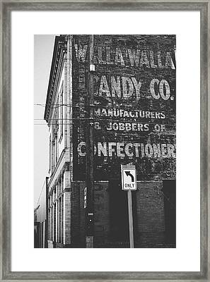 Walla Walla Candy Co- Walla Walla Photography By Linda Woods Framed Print by Linda Woods