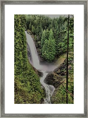 Framed Print featuring the photograph Wallace Falls by Jeff Swan