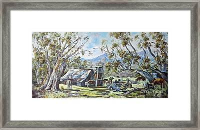 Wallace Hut, Australia's Alpine National Park. Framed Print