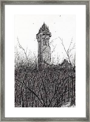 Wallace Monument Framed Print by Vincent Alexander Booth