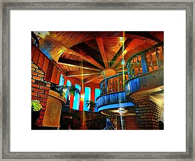 Framed Print featuring the photograph Wallaceville House's Rustic Balcony by Kathy Kelly