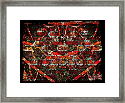 Abstract Berry Wall Art Framed Print by Leanne Seymour