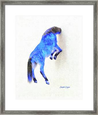 Walled Blue Horse Framed Print