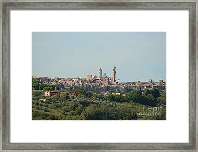 Walled City Of Siena In Italy Framed Print by DejaVu Designs