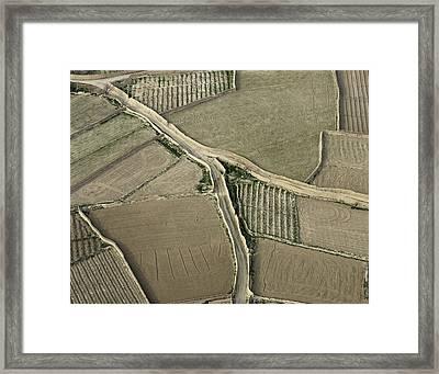Walled Fields Near Bagram Framed Print by Tim Grams