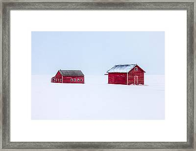 Walled In White Framed Print by Todd Klassy