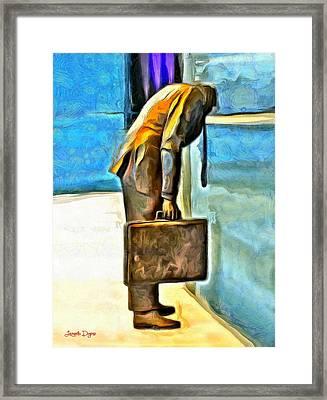 Walled Man - Pa Framed Print