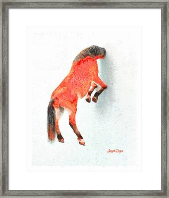 Walled Red Horse - Pa Framed Print
