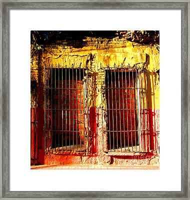 Walled Ruin By Peter Birnie Framed Print