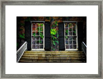Framed Print featuring the photograph Walled Up Windows by Harry Spitz