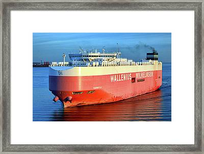 Framed Print featuring the photograph Wallenius Wilhelmsen Thermopylae 9702443 On The Patapsco River by Bill Swartwout Fine Art Photography