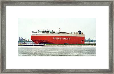 Framed Print featuring the photograph Wallenius Wilhelmsen Tombarra 9319753 At Curtis Bay by Bill Swartwout Fine Art Photography