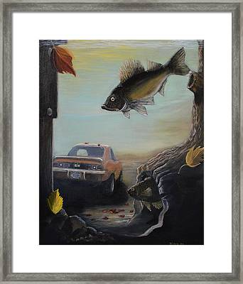 Walleye Fall 3 Framed Print by Kimberly Benedict