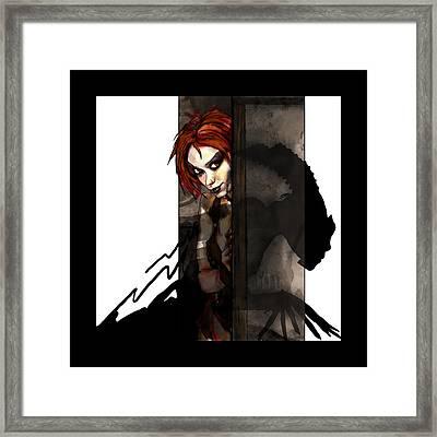 Wallflower Framed Print by Mandem
