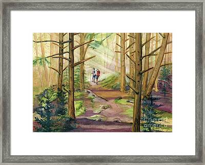 Wallk Into The Light Framed Print
