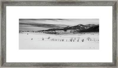 Framed Print featuring the photograph Wallowa Mountains by Cat Connor