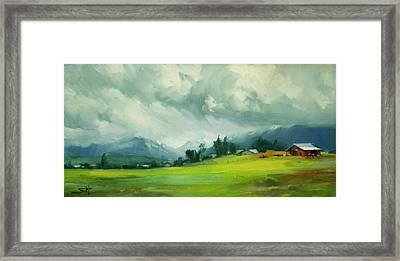 Wallowa Valley Storm Framed Print