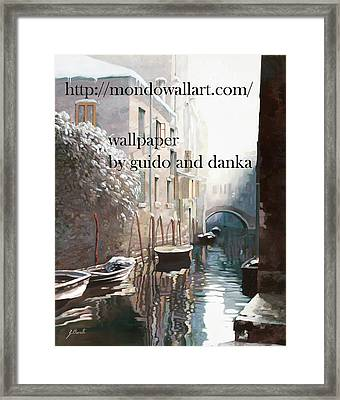 Wallpaper  Framed Print by Guido Borelli