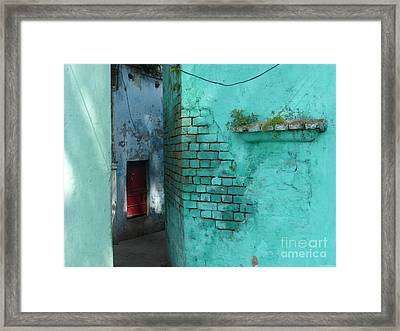 Framed Print featuring the photograph Walls by Jean luc Comperat