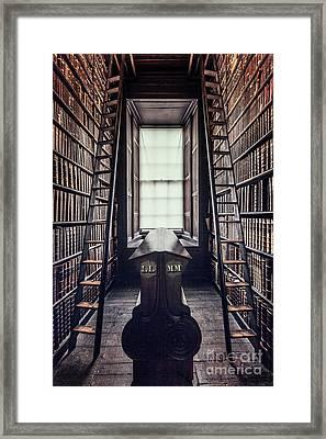 Walls Of Books Framed Print