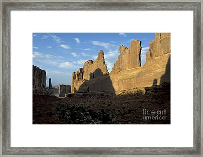 Walls Of Broadway Framed Print by Stan and Anne Foster