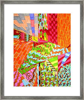 Walls Of Deception Framed Print by Eric Devan