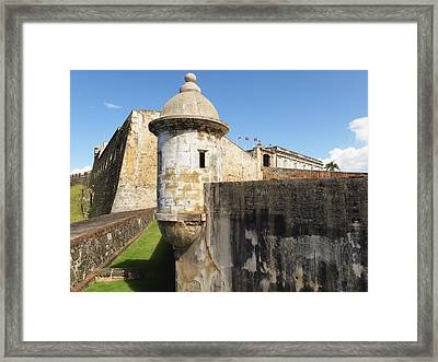 Walls Of San Cristobal Fort San Juan Puerto Rico  Framed Print