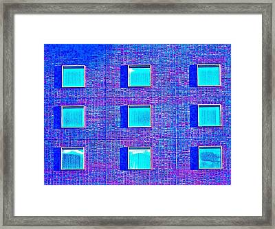 Walls Of Windows Framed Print by Gillis Cone
