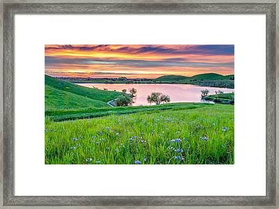 Framed Print featuring the photograph Wally Baskets Above Contra Loma  by Marc Crumpler