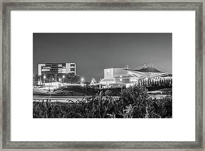 Walmart Amp And Northwest Arkansas Cityscape - Black And White Framed Print