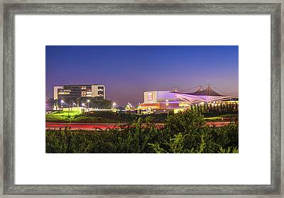 Walmart Amp And Northwest Arkansas Cityscape Framed Print