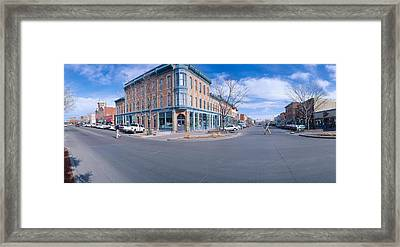 Walnut & Linden Streets, Fort Collins Framed Print by Panoramic Images