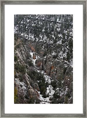 Walnut Canyon In Flagstaff In Winter 4 Framed Print