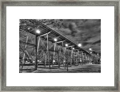 Walnut Walking Walnut Street Pedestrian Bridge Framed Print by Reid Callaway