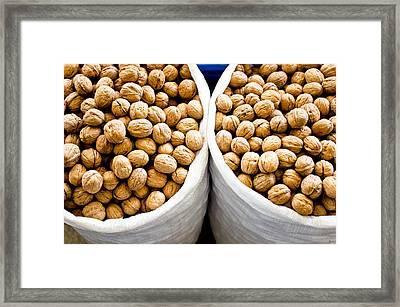 Walnuts Framed Print by Tom Gowanlock