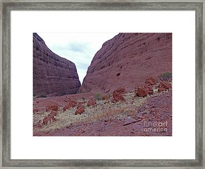 Walpa Gorge - Kata Tjuta Framed Print by Phil Banks