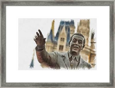 Walt - Sketch Framed Print