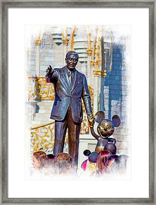 Framed Print featuring the photograph Walt And Mickey by Mark Andrew Thomas