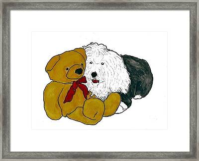 Walt And Ted Framed Print