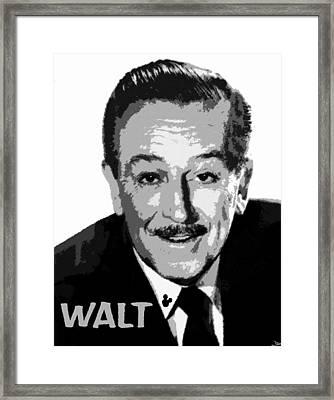 Walt Framed Print by David Lee Thompson