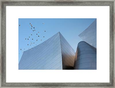 Framed Print featuring the photograph Walt Disney Concert Hall Los Angeles California Architecture Abstract by Ram Vasudev