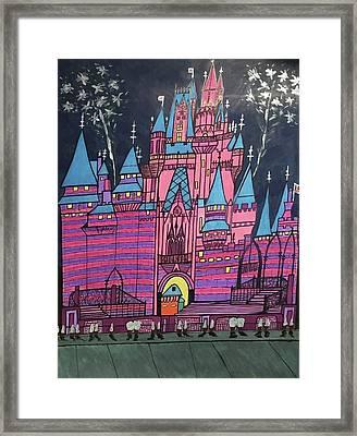 Walt Disney World Cinderrela Castle Framed Print