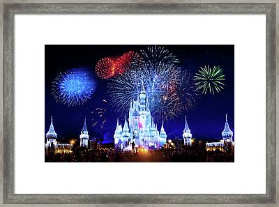 Walt Disney World Fireworks  Framed Print by Mark Andrew Thomas