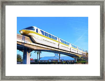 Framed Print featuring the photograph Walt Disney World Monorail by Mark Andrew Thomas