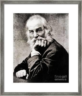 Walt Whitman, Literary Legend Framed Print